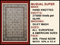 Handmade carpets famous for quality and long lasting durability.